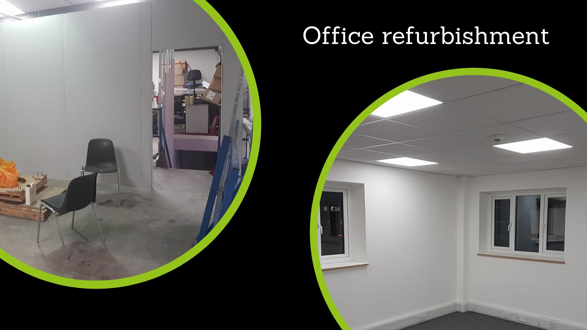 Office refurbishment phots, by Refurb Property Renovations