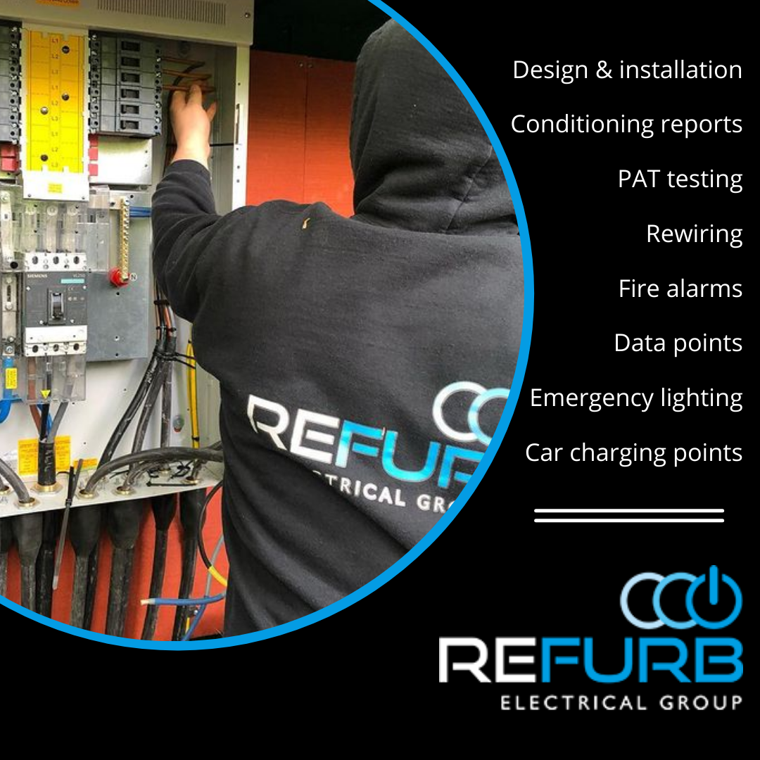 List of services by Refurb commercial electrician, Witney